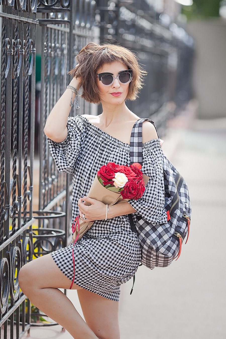 gingham-check-dress-for-summer