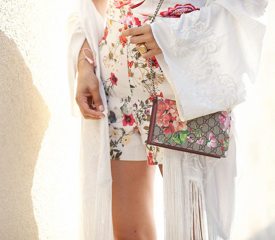 сумка gucci в цветочек
