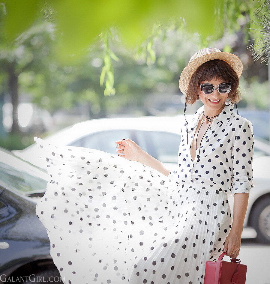 polka-dots-dress-outfit-for-summer-2016