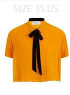 Elvi Mustard Top With Black Tie