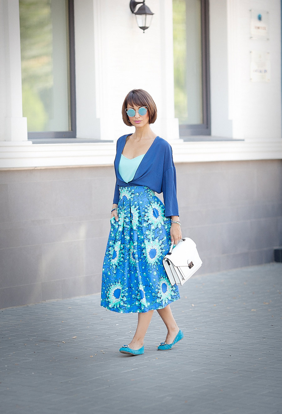 blue colors outfit for summer