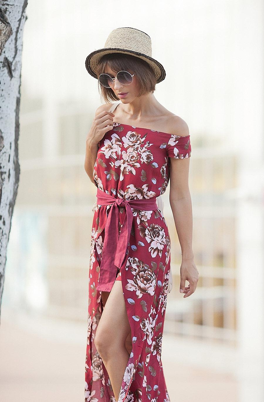 floral print, maxi dress, цветочное платье, уличная мода для лета, бохо стиль, летний бохо стиль,