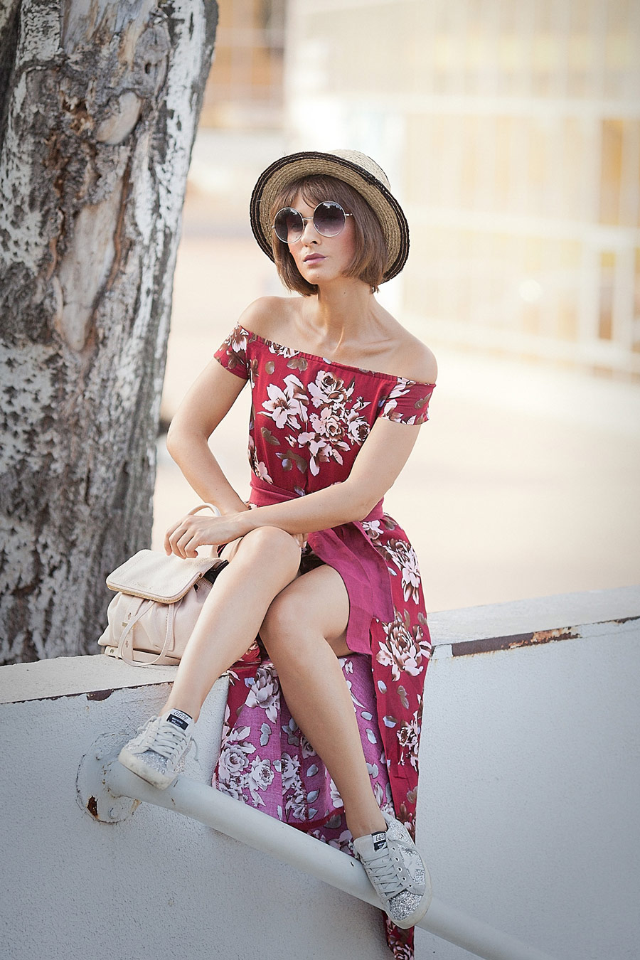 floral printed boho style dress,