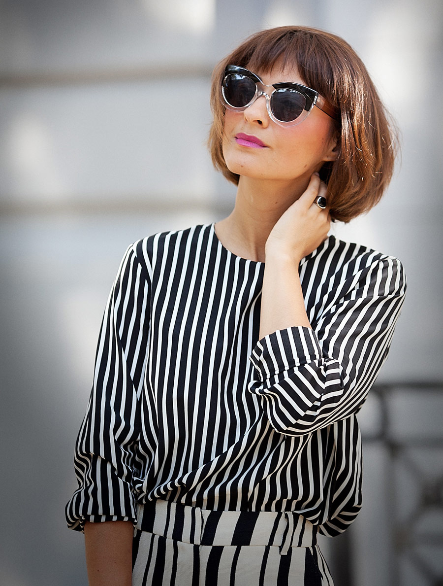 mango striped top,
