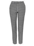 Gingham Cigarette Trousers