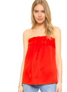 Milly April Strapless Ruffle Top