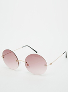 ASOS Rimless Round Sunglasses