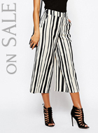 River Island Stripe Leg Crop Trouser