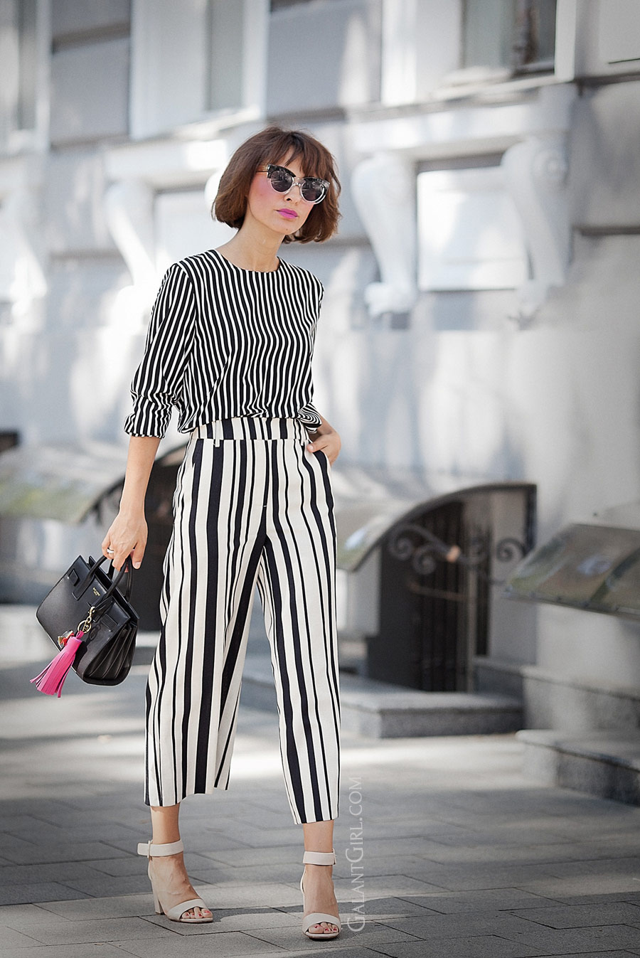 total striped look, striped culottes outfit, culottes outfits, summer outfit ideas, summer styles, ellena galant girl,
