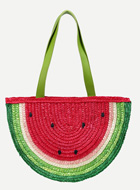 Watermelon Straw Shopper Bag