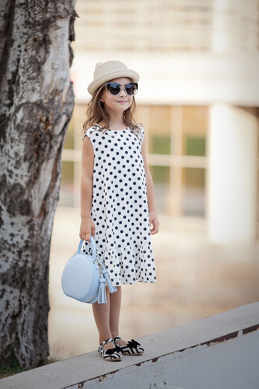 polka dot summer dress,