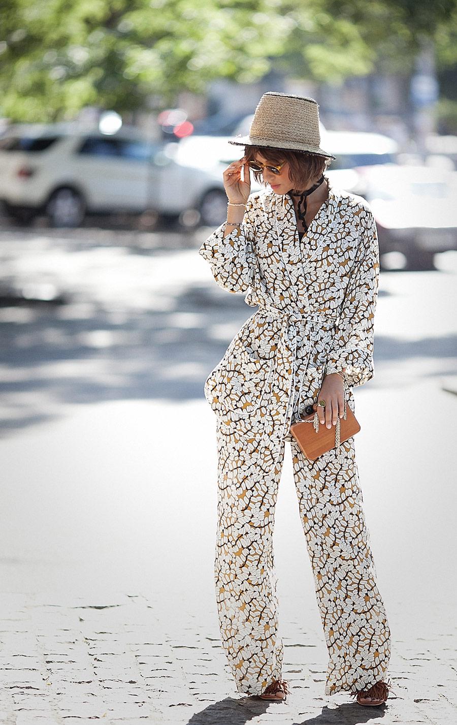 Pajama Trend, pajamas street styles, pyjama set, summer street styles,