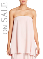 Tibi Simone Strapless Silk Top