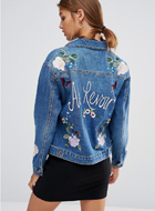 New Look Denim Jacket With Embroidery