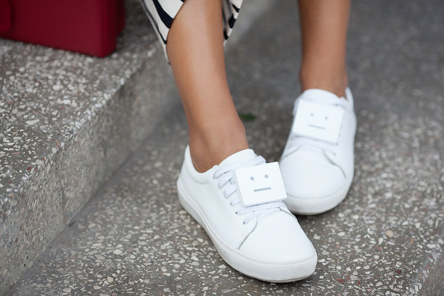 photo of acne studios face sneakers