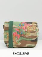 Reclaimed Vintage Camo Cross Body Bag