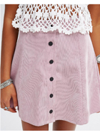 Glamorous Button Front Mini Skirt