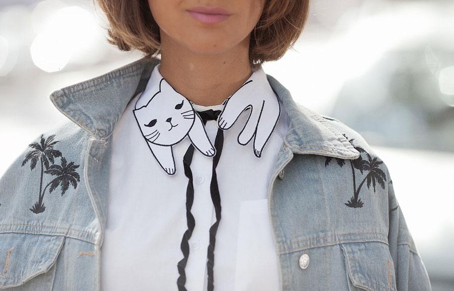cute collars for white shirt,