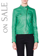 Tomas Maier Leather Moto Jacket