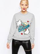Love Moschino Patchwork Sweatshirt