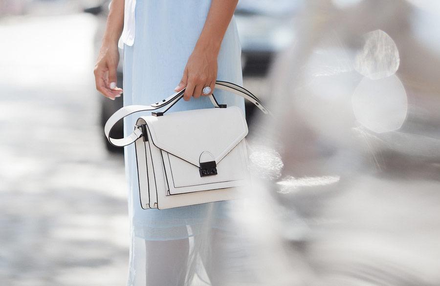 loeffler randall satchel bag in white
