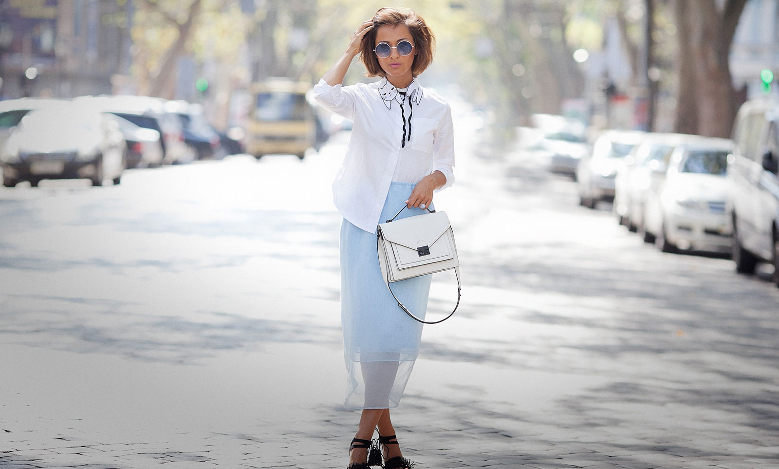 pencil skirt outfit, white shirt outfit, fall outfit ideas, fashion blogger Elena Galant Girl