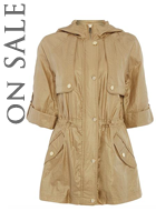 Eliza J Hooded Parka Coat