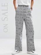 ASOS Check Printed Trousers