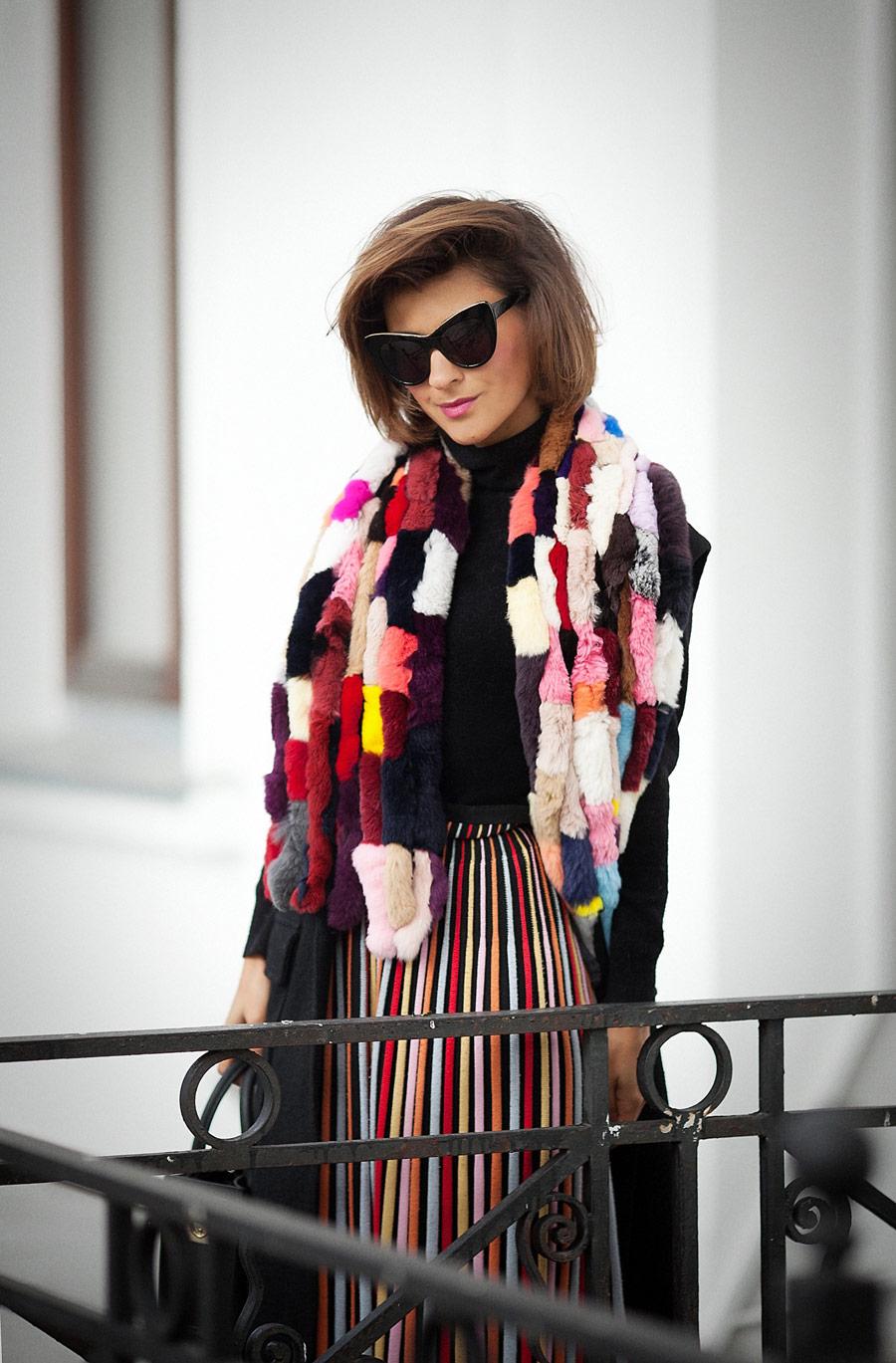 missoni skirt, fur scarf, fall outfit ideas, Ellena Galant, Елена Галант, осенние луки, осення мода, что носить осенью, вязаная юбка,