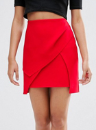 ASOS layered mini skirt