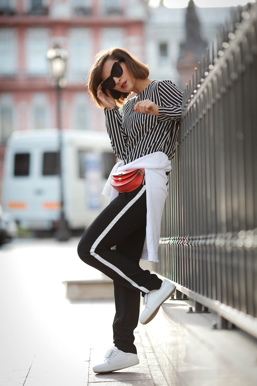 track pants outfit, chloe belt bag, best street styles, sport style ideas,