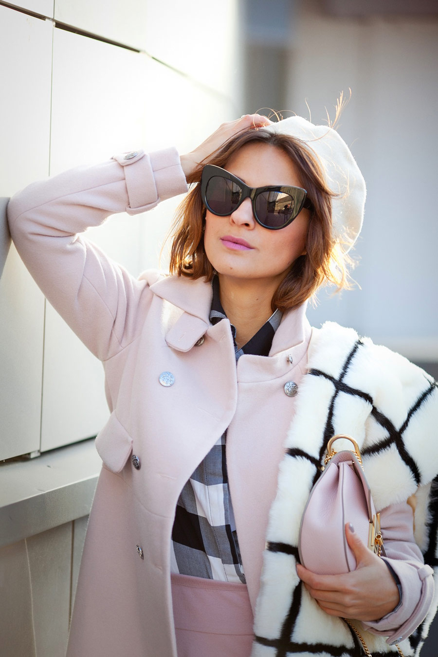 stella mccartney sunglasses outfit, street style for fall, cat eye sunglasses, Ellena Galant Girl