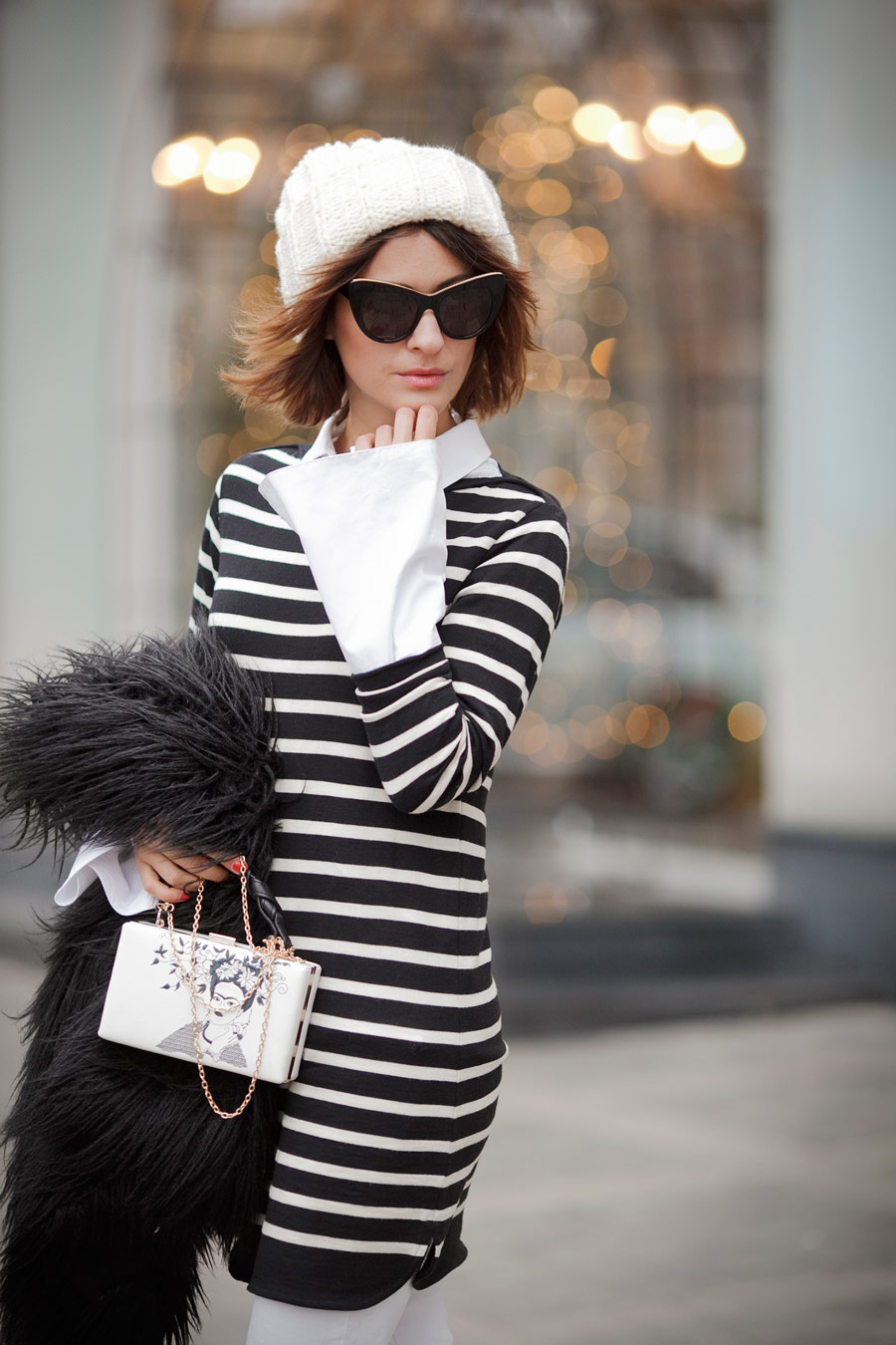 stripe knitted dress, winter outfits, winter outfit ideas, Ellena Galant, Елена Галант,