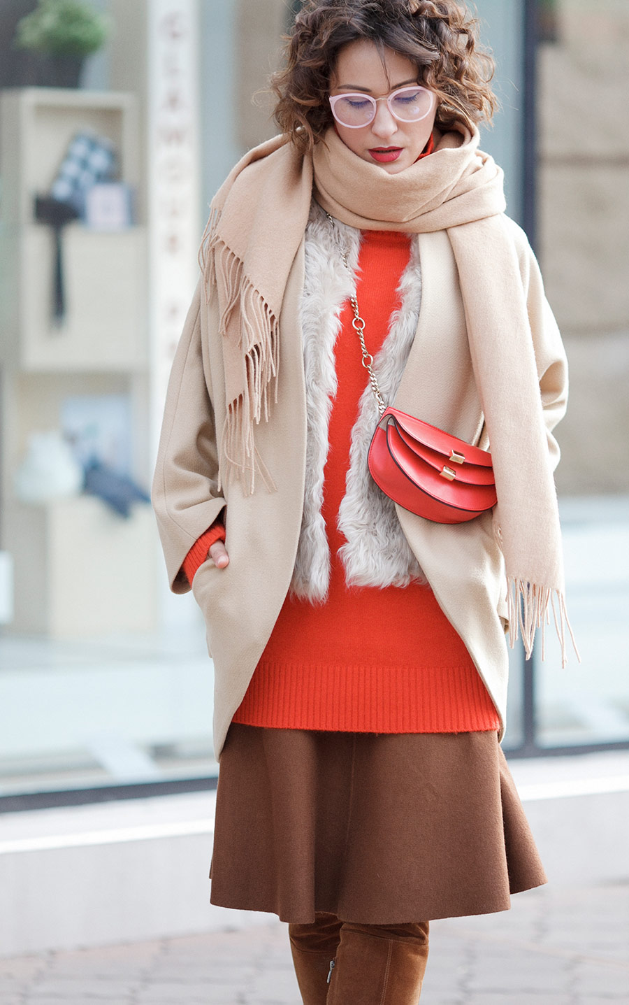 chic style outfits, winter outfits, chloe bag outfits,