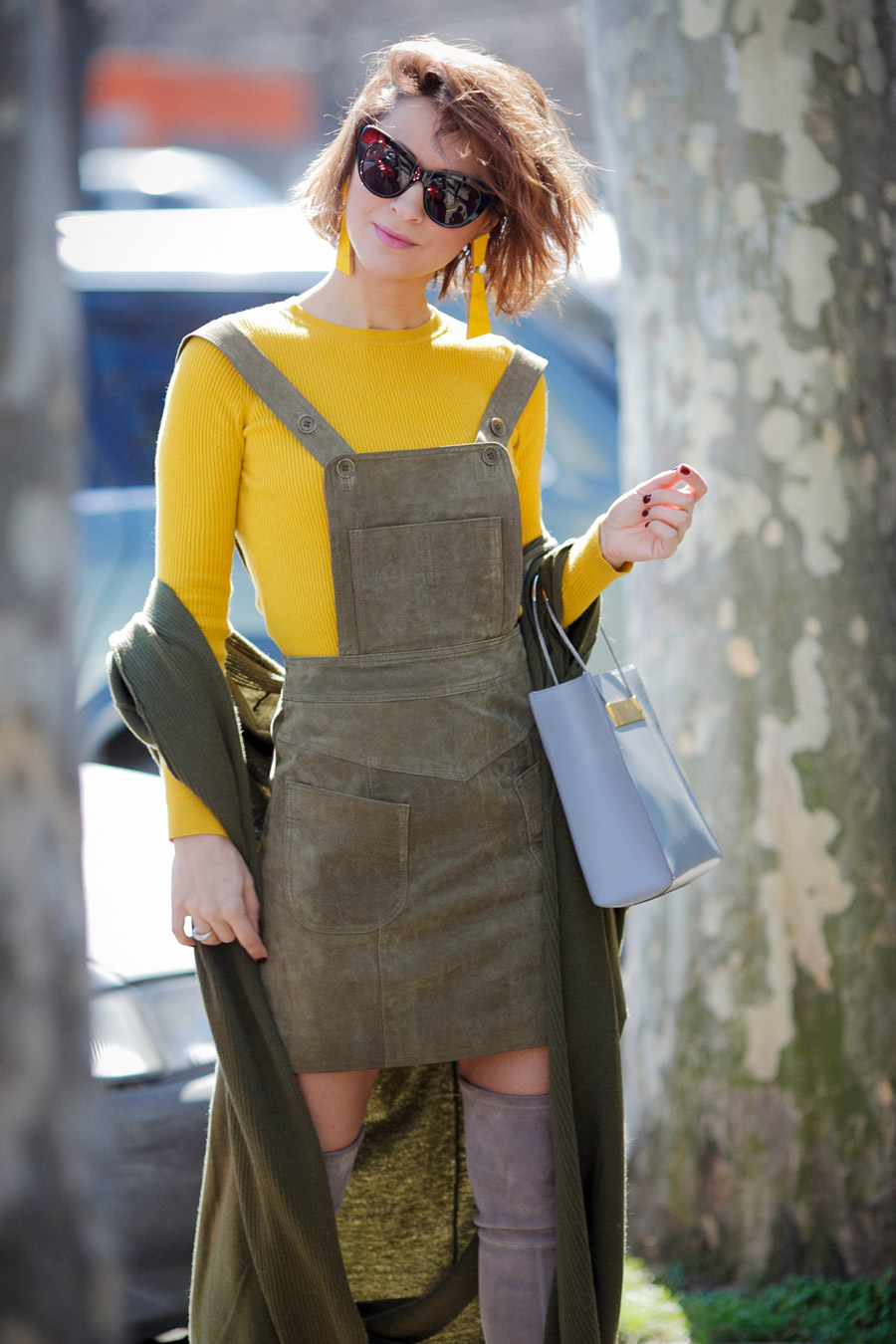 pinafore dress outfits, spring outfit ideas,