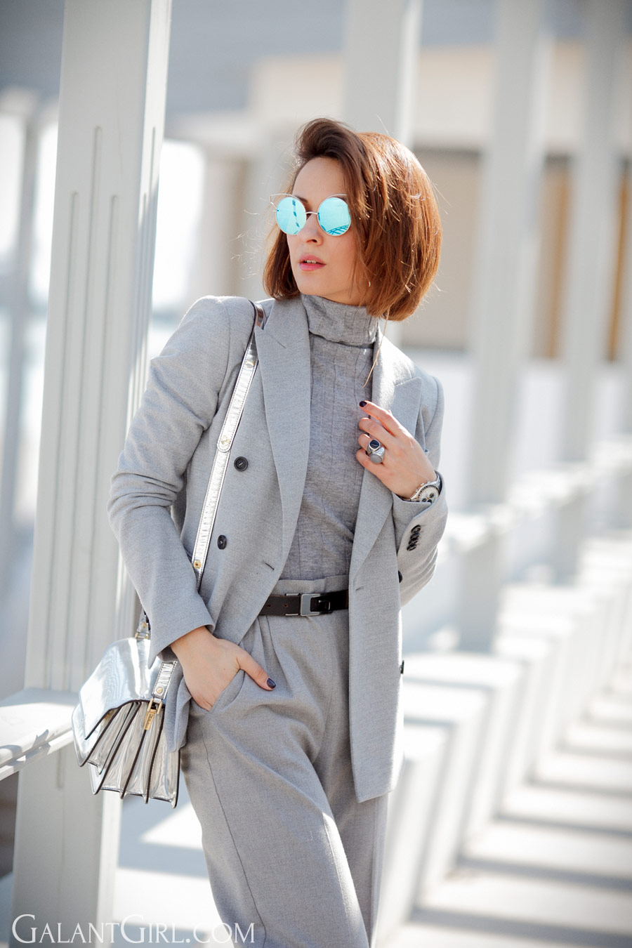 marni trunk bag, total grey outfits, the power of suit