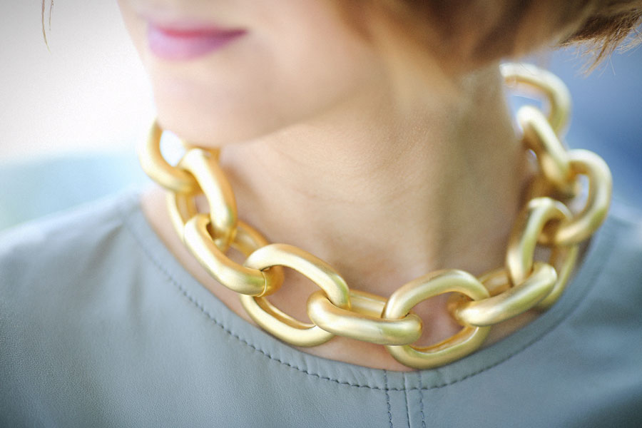 kenneth jay lane statement necklace,