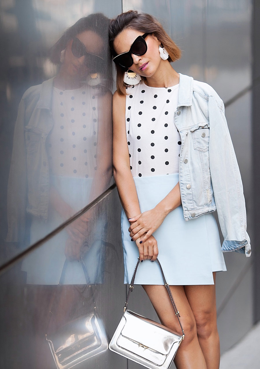 galant_girl_fashion_blog, Polka dot top outfit