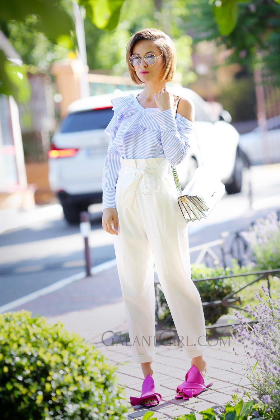 топ с рюшами, мюли N21, ruffle_summer_top_outfits