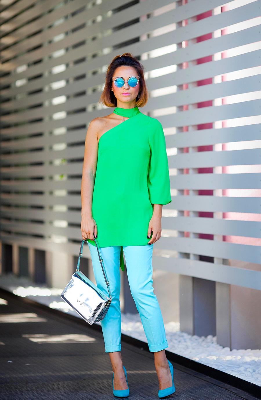 с чем носить зеленый цвет, s chem nosit zelenyj tsvet